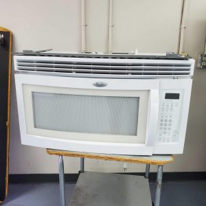 Whirlpool over the range microwave, white