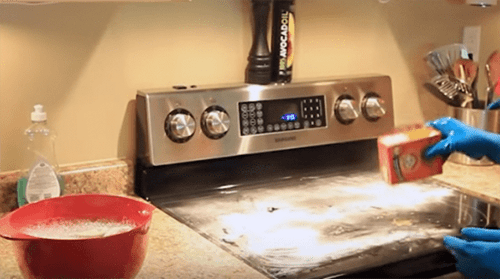 how to clean a glass range top