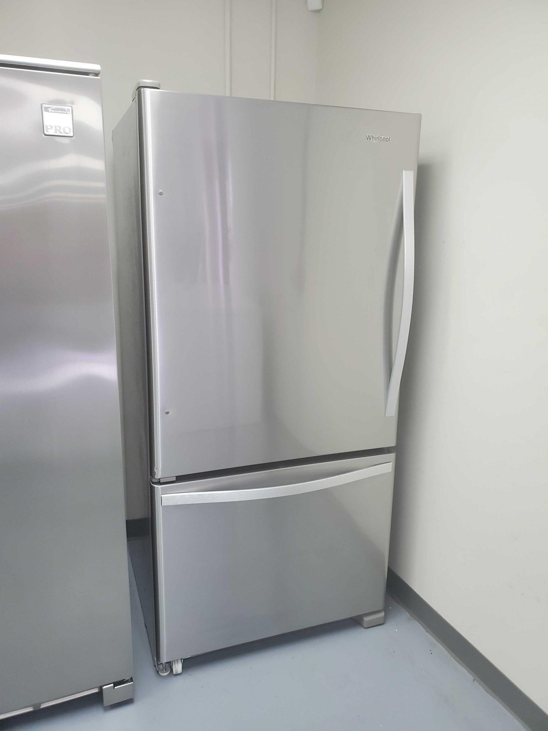 Whirlpool 22 07 Cu Ft Bottom Freezer Refrigerator With Ice Maker Stainless Steel Appliance Repair Company In Birmingham Al