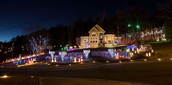 Christmas lights in Trussville