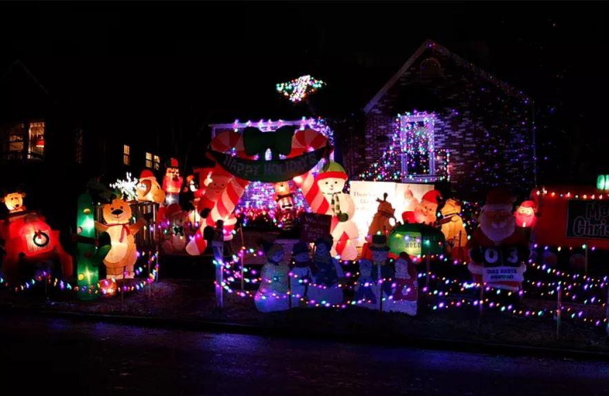 Christmas lights mountain brook