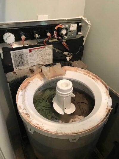 old washing machine repair shop
